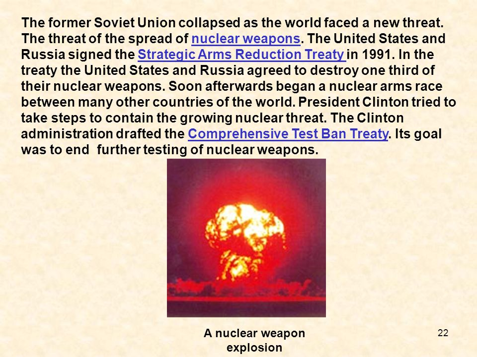 A nuclear weapon explosion