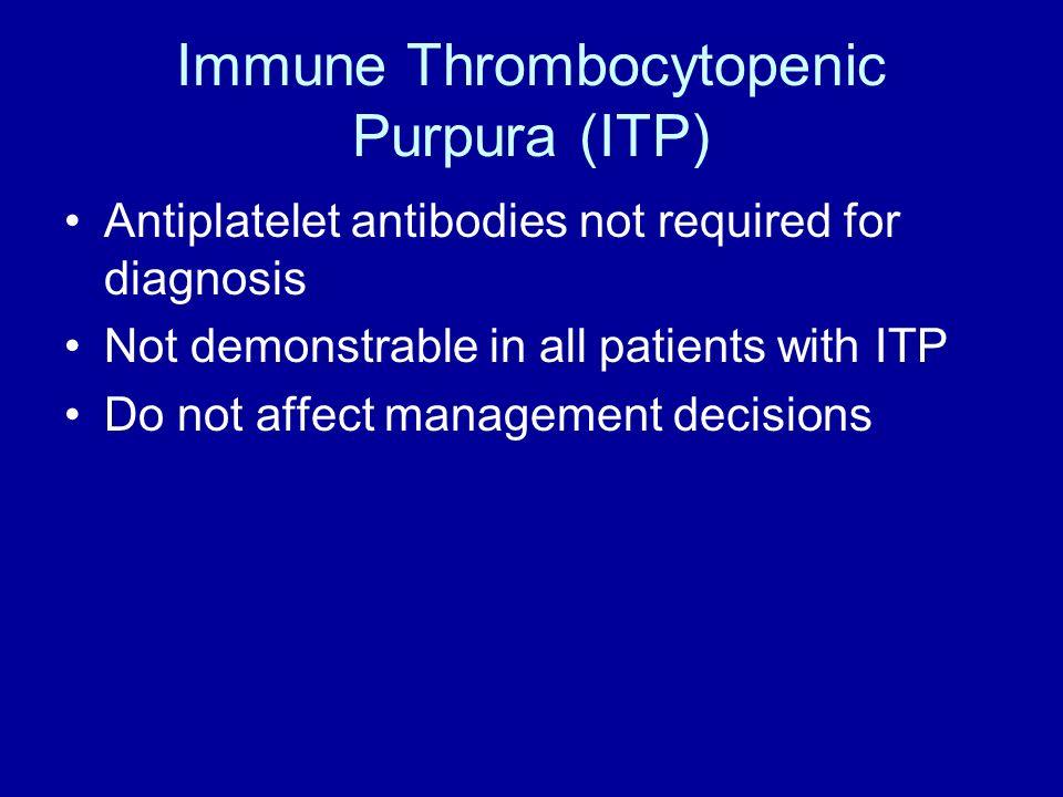 Immune Thrombocytopenic Purpura (ITP)