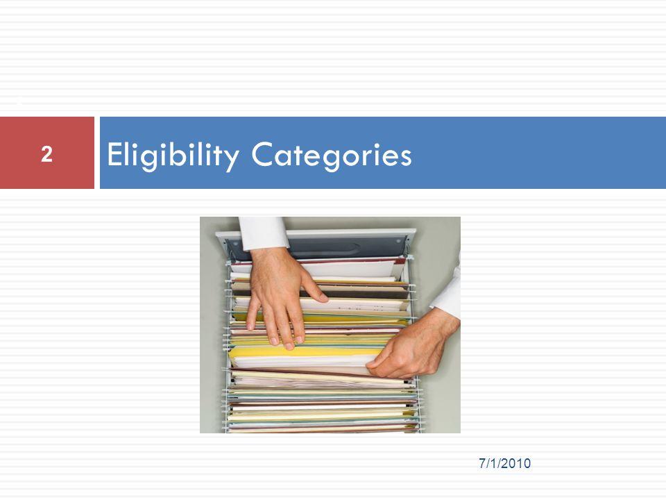 Eligibility Categories