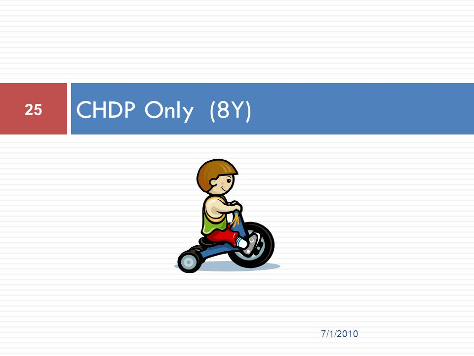 CHDP Only (8Y) 7/1/2010