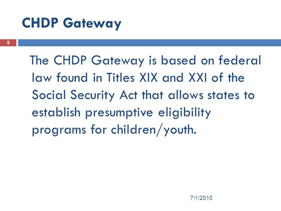 CHDP Gateway