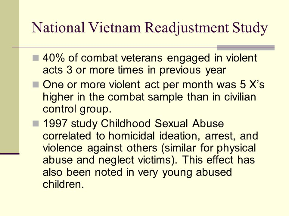 National Vietnam Readjustment Study