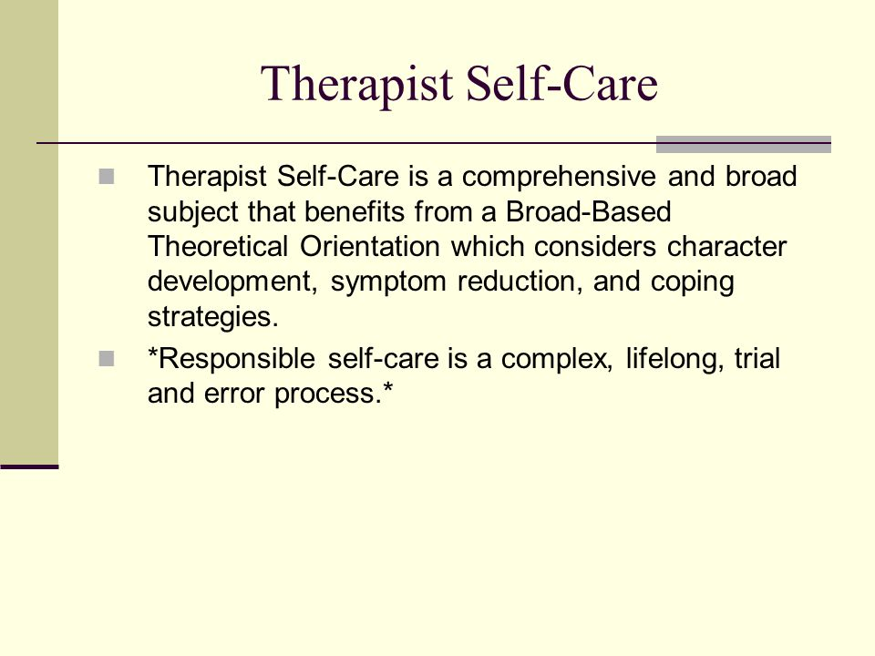 Therapist Self-Care