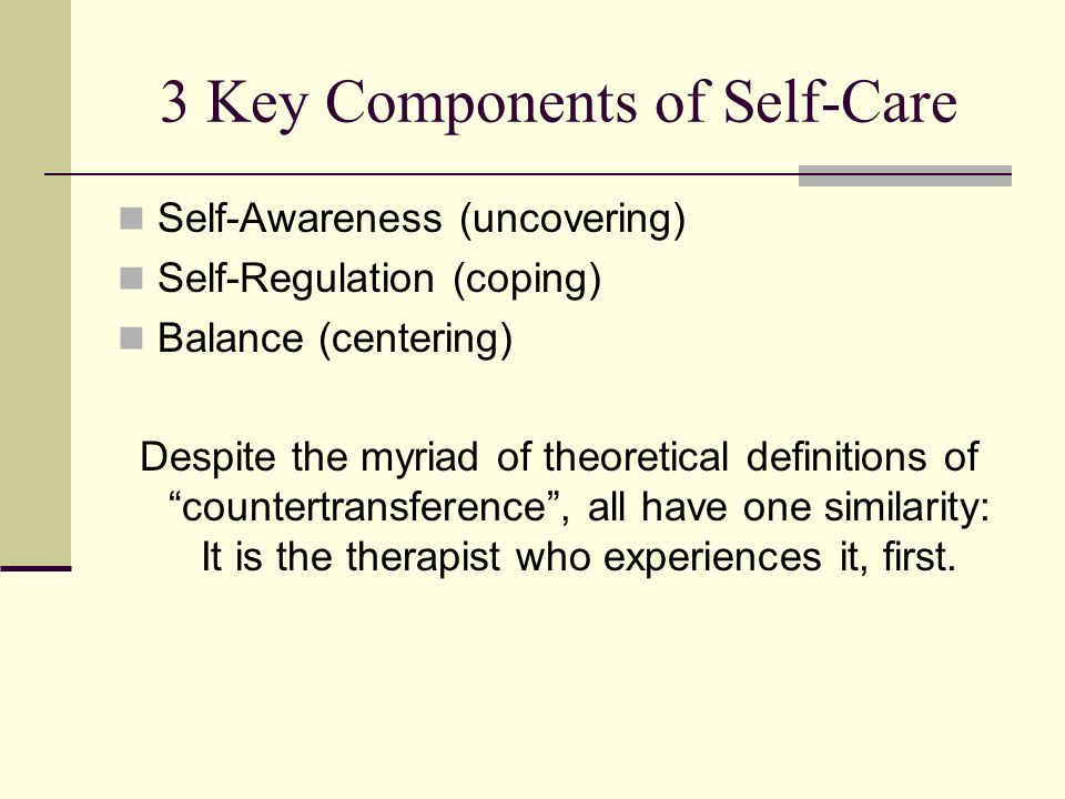 3 Key Components of Self-Care