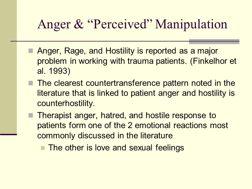 Anger & Perceived Manipulation