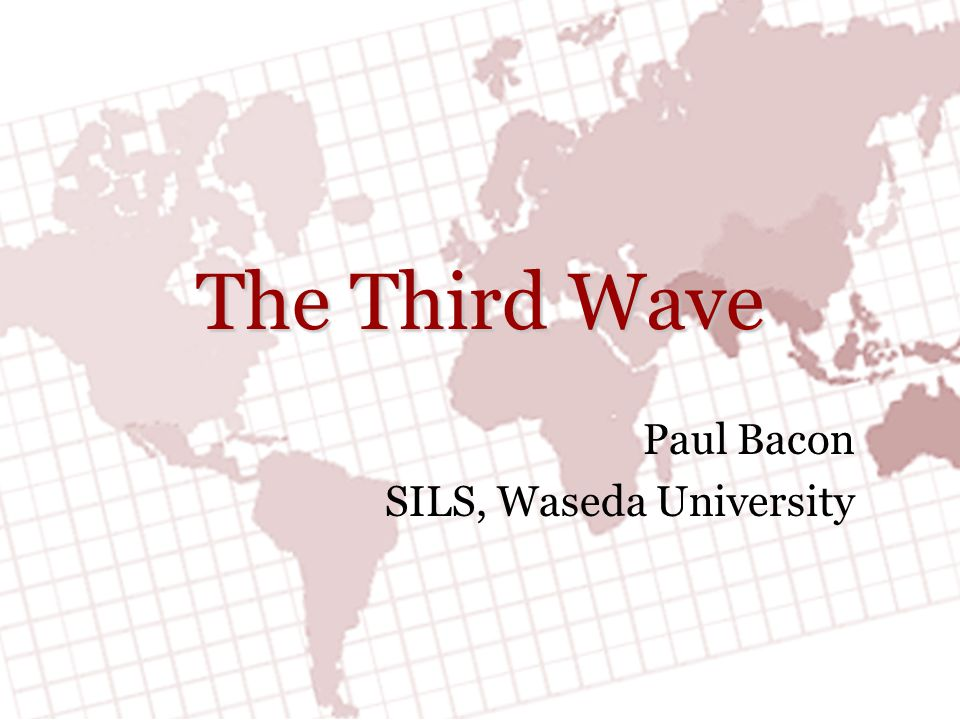 Paul Bacon SILS, Waseda University