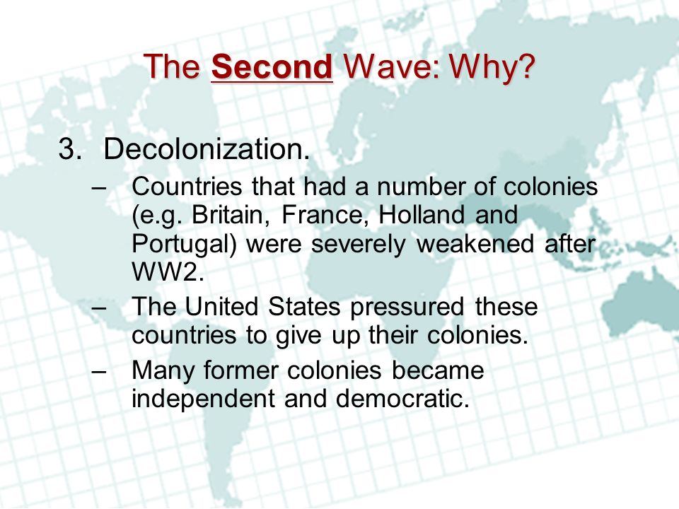 The Second Wave: Why Decolonization.