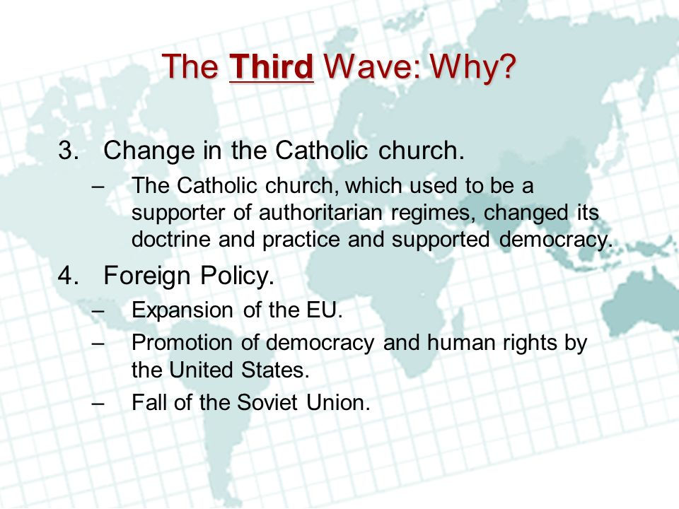 The Third Wave: Why Change in the Catholic church. Foreign Policy.