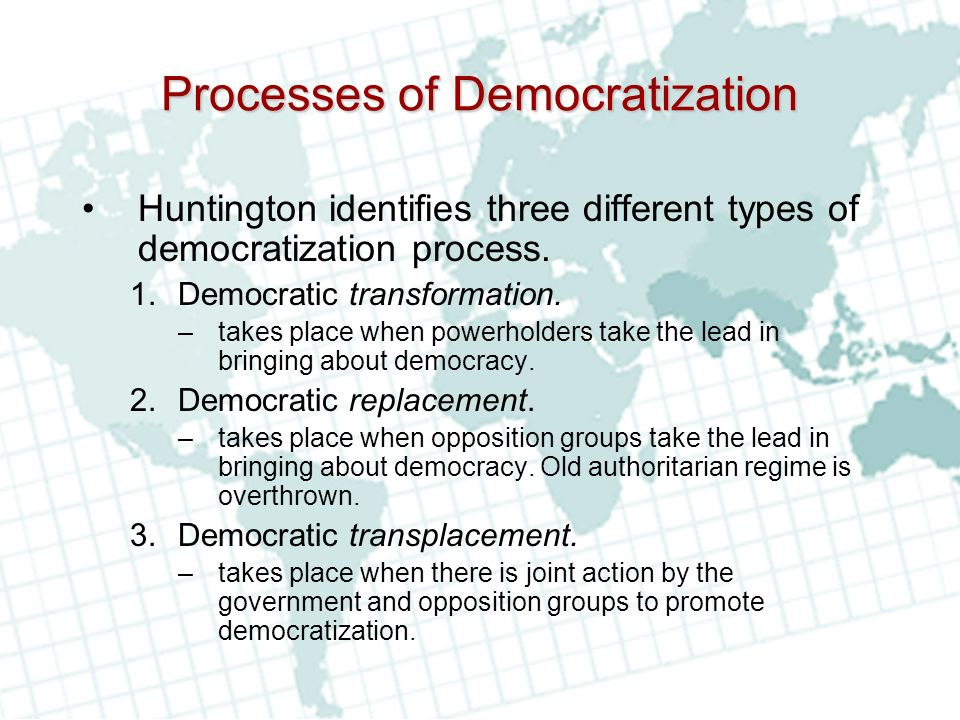 Processes of Democratization