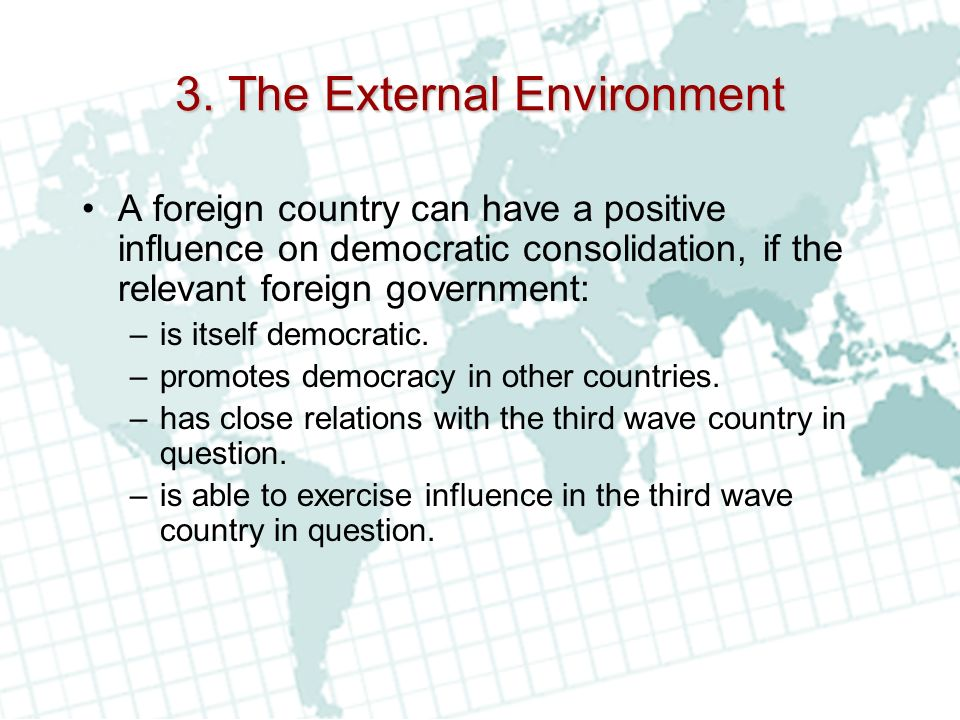3. The External Environment