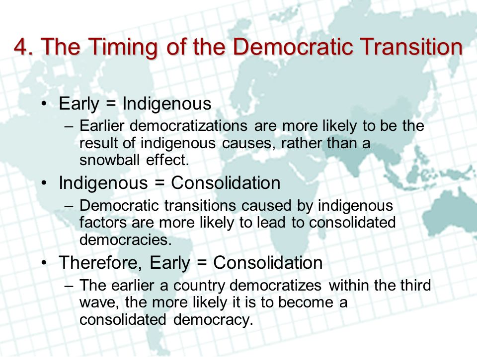 4. The Timing of the Democratic Transition