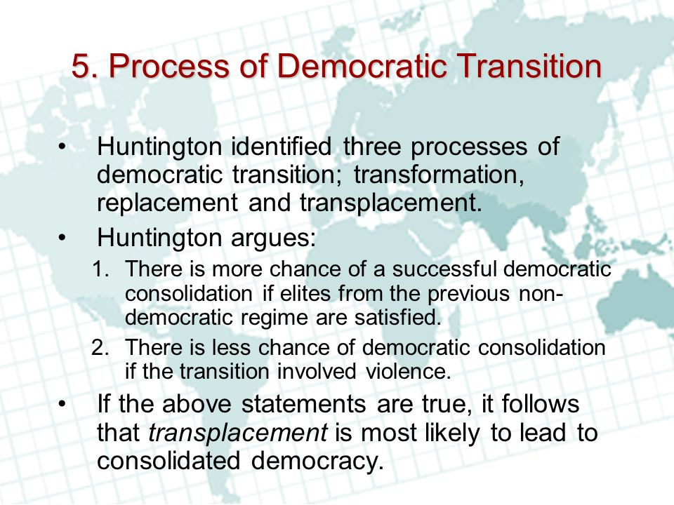 5. Process of Democratic Transition