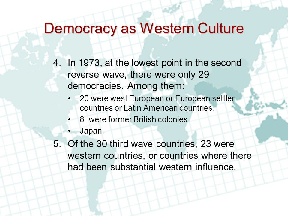 Democracy as Western Culture