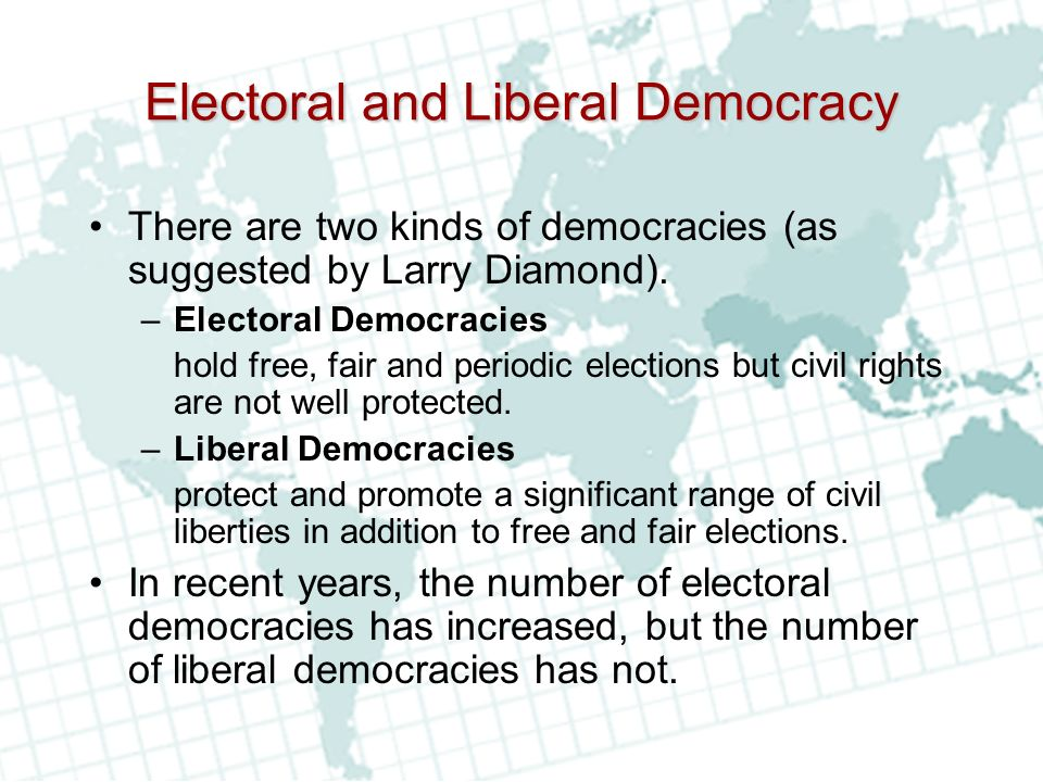 Electoral and Liberal Democracy