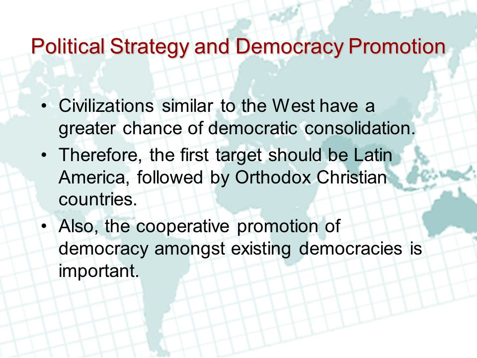 Political Strategy and Democracy Promotion