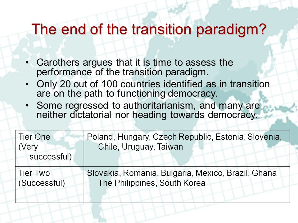 The end of the transition paradigm