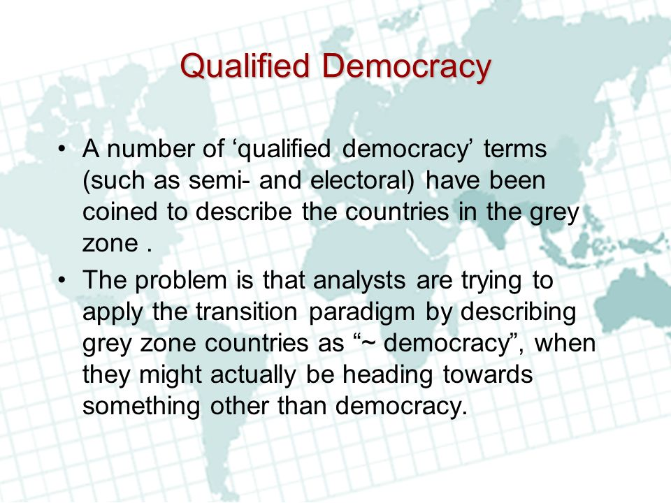 Qualified Democracy