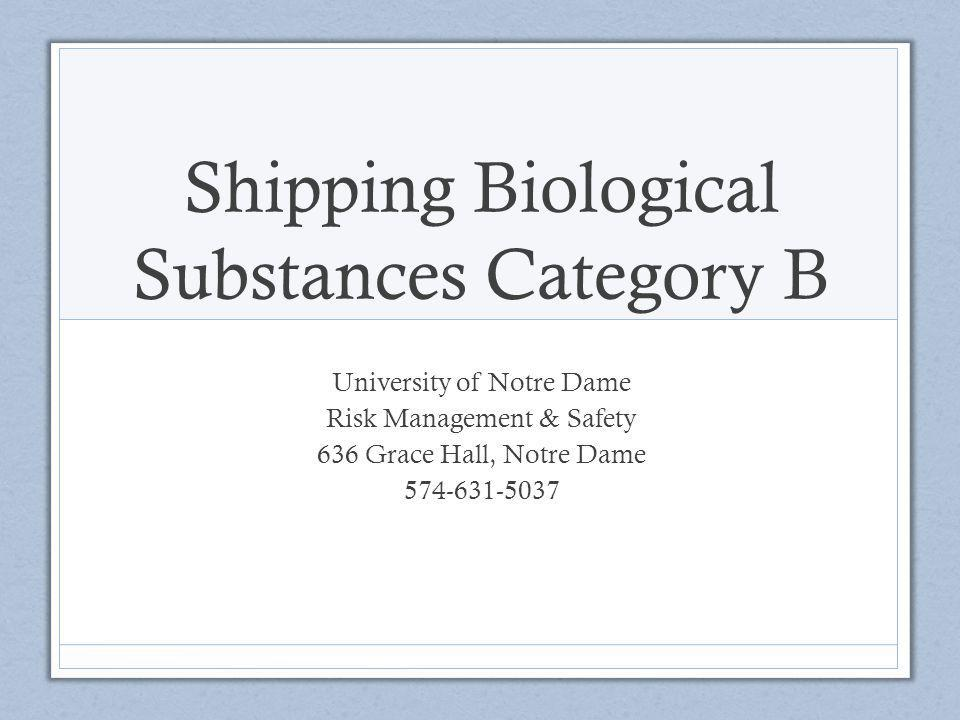 Shipping Biological Substances Category B