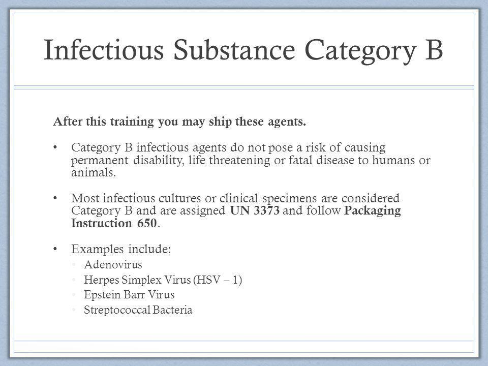 Infectious Substance Category B