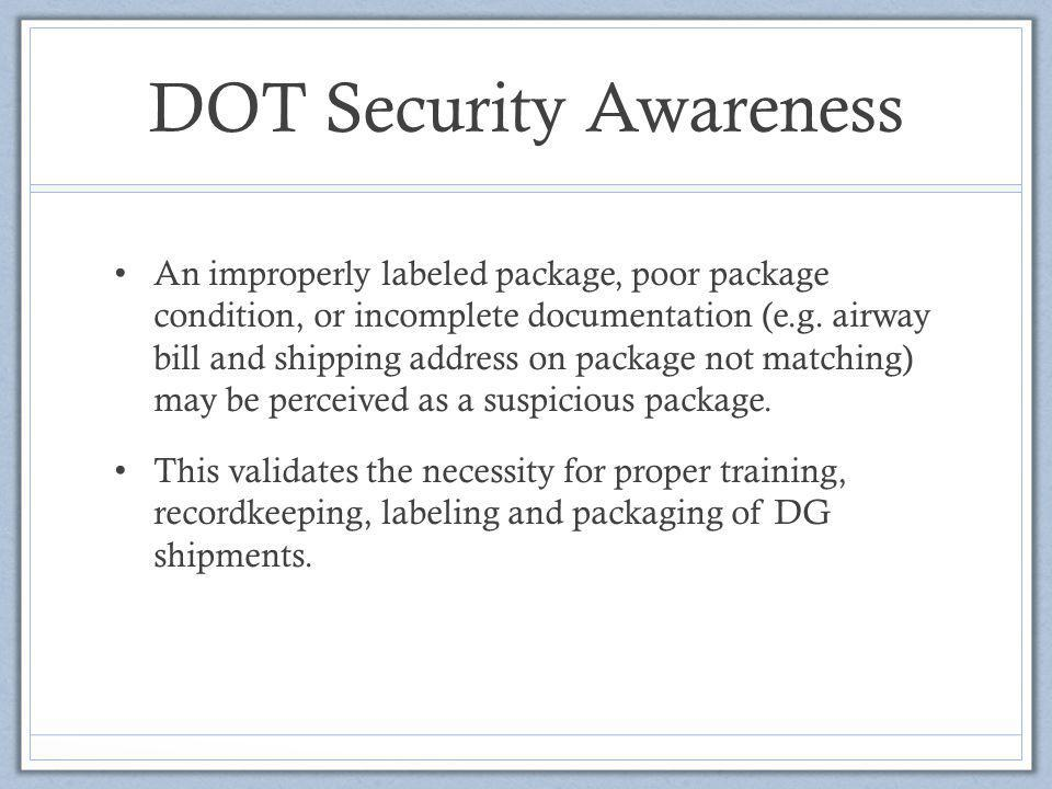 DOT Security Awareness