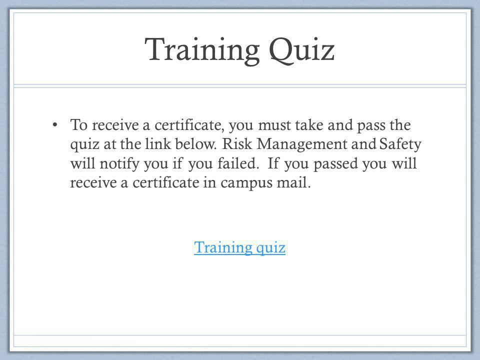 Training Quiz