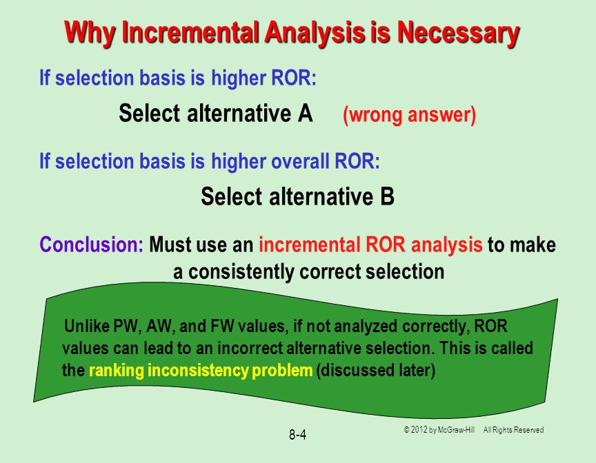 Why Incremental Analysis is Necessary