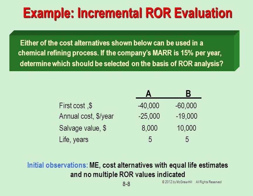 Example: Incremental ROR Evaluation