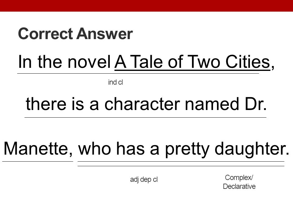 Correct Answer In the novel A Tale of Two Cities, there is a character named Dr. Manette, who has a pretty daughter.