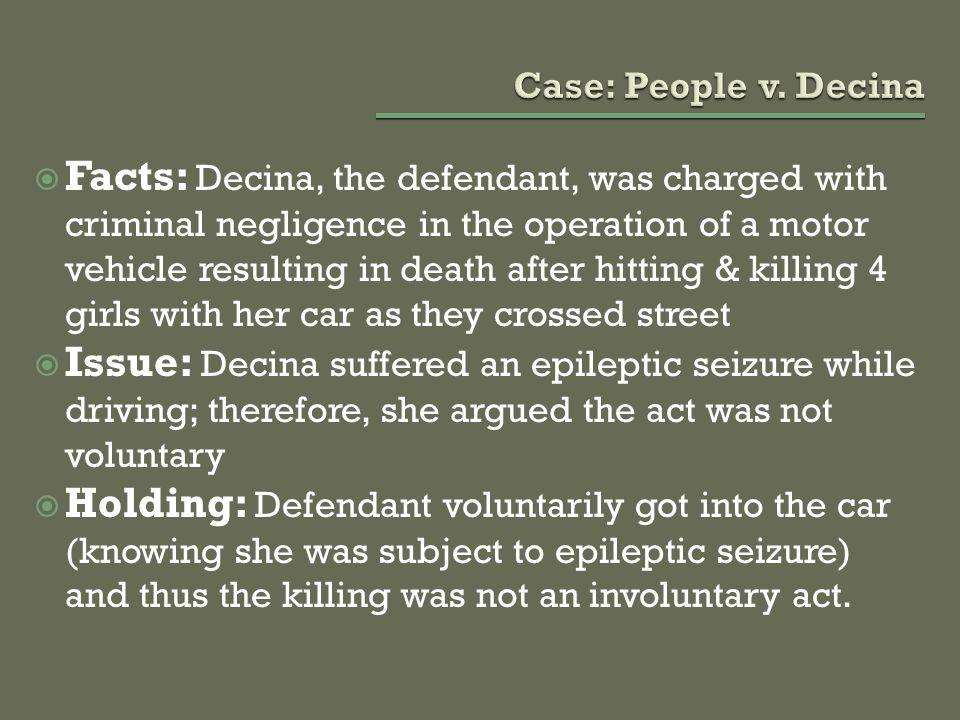 Case: People v. Decina