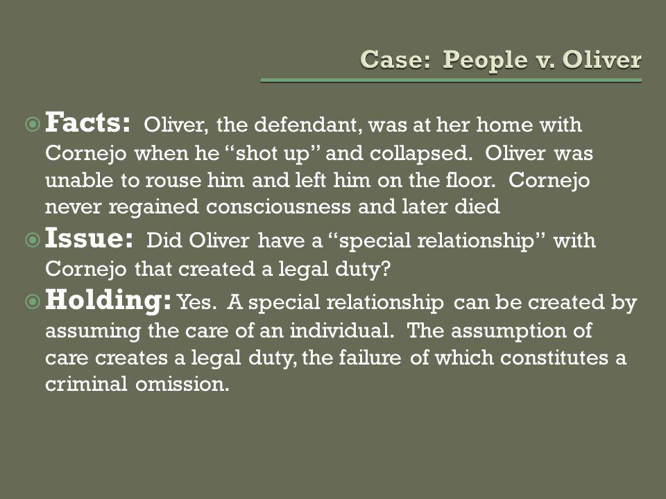 Case: People v. Oliver