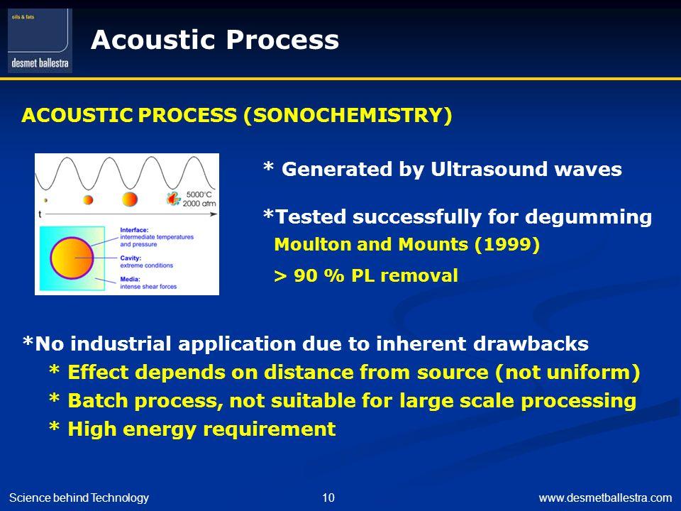 Acoustic Process ACOUSTIC PROCESS (SONOCHEMISTRY)