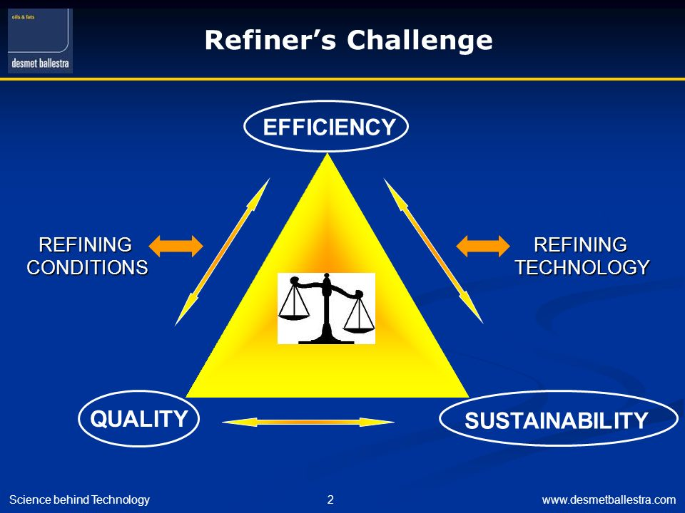 Refiner's Challenge EFFICIENCY QUALITY SUSTAINABILITY REFINING