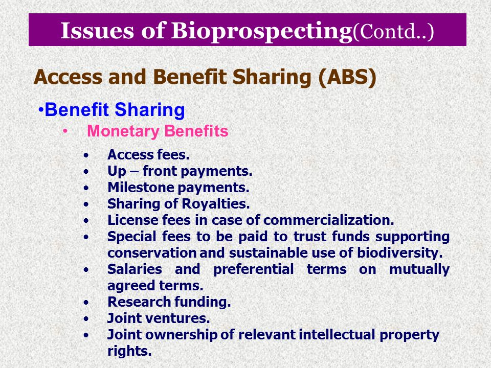 Issues of Bioprospecting(Contd..)