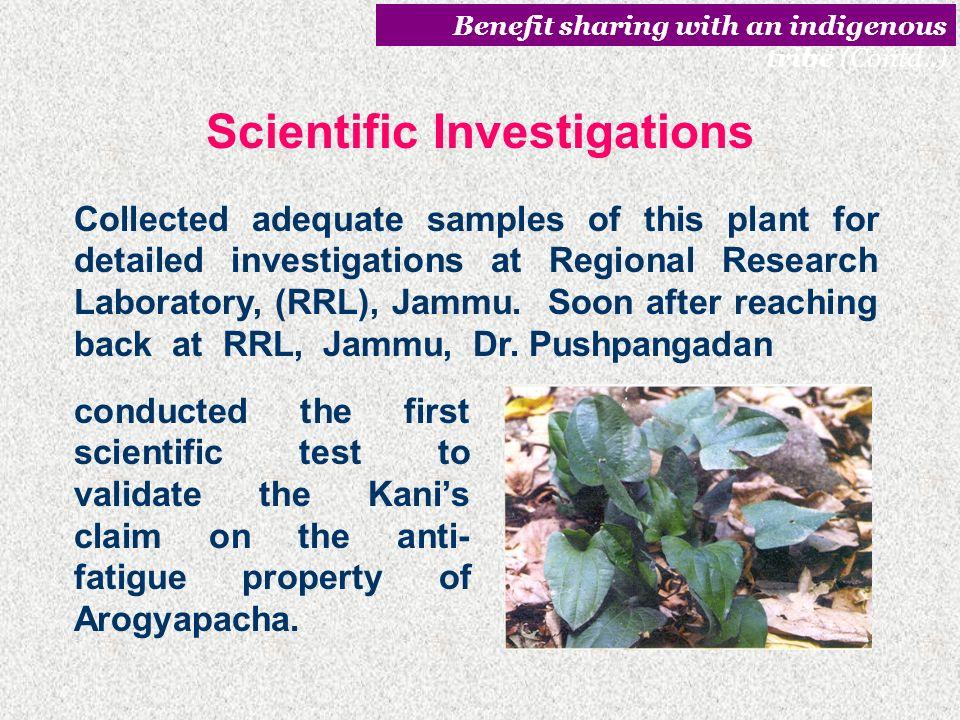 Scientific Investigations