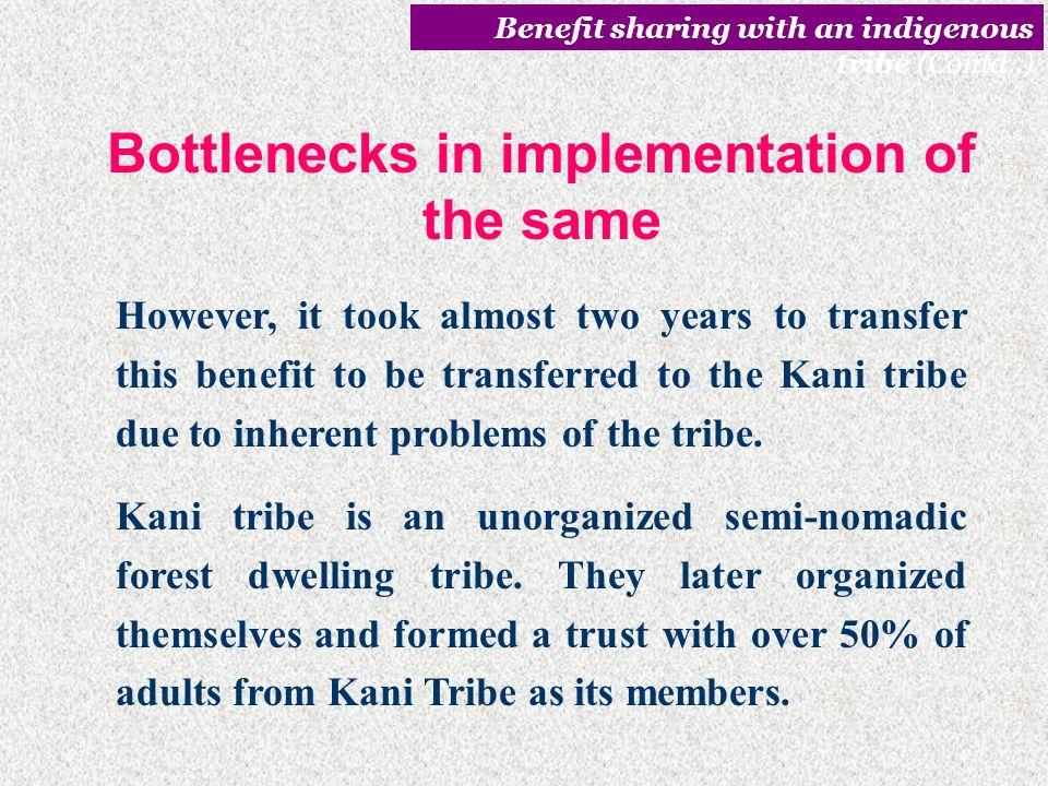Bottlenecks in implementation of the same