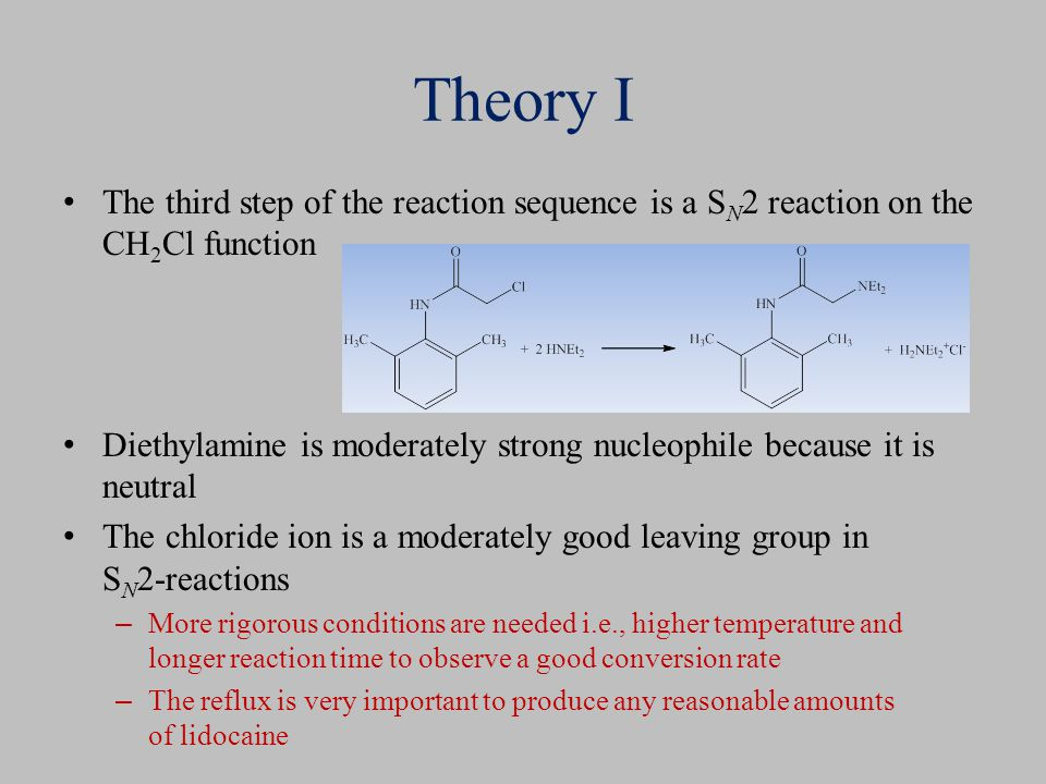 Theory I The third step of the reaction sequence is a SN2 reaction on the CH2Cl function.