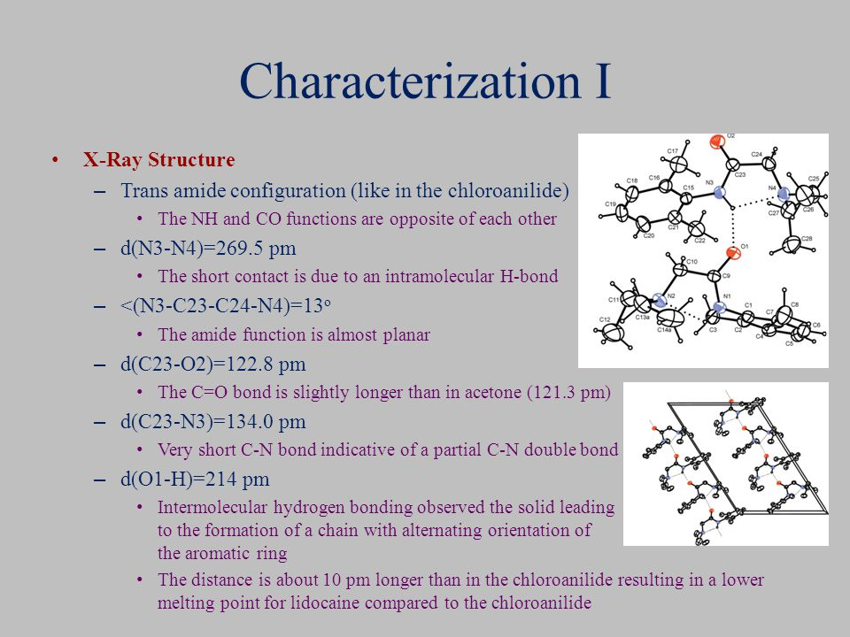 Characterization I X-Ray Structure