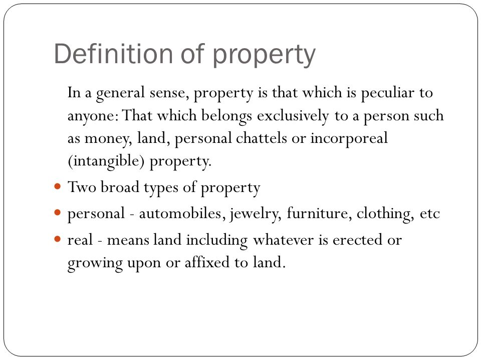 Definition of property