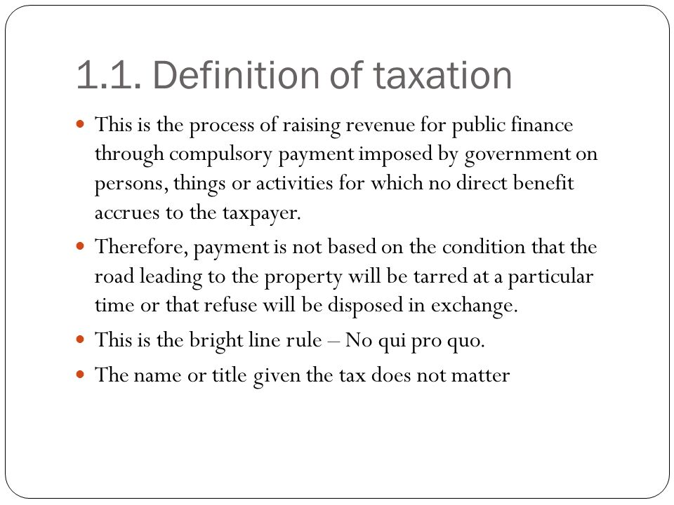 1.1. Definition of taxation