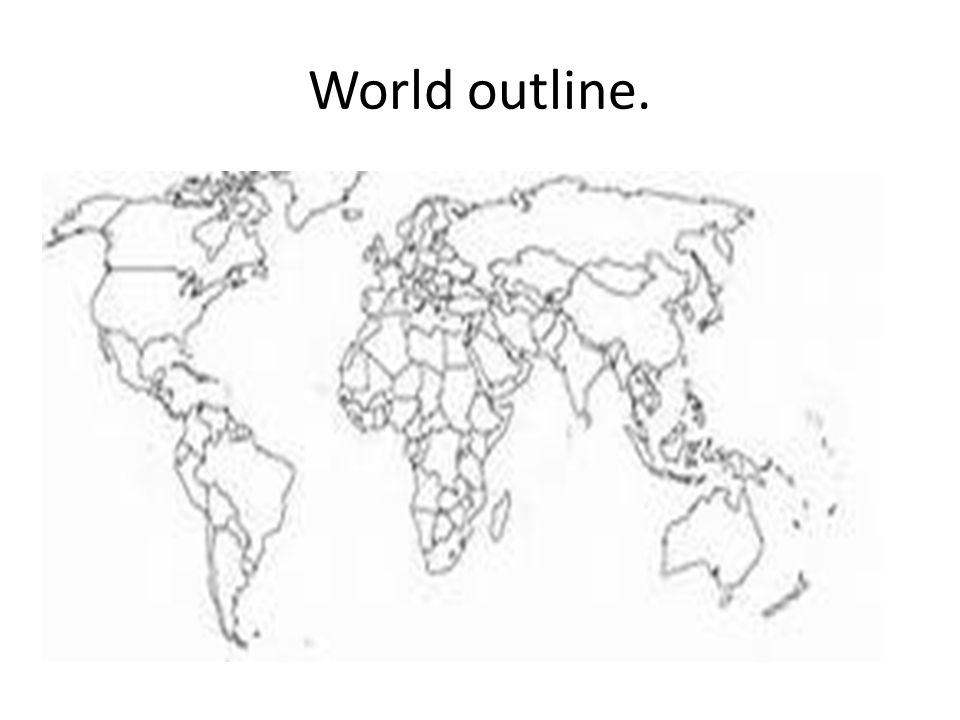 World outline.