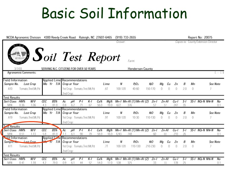 Basic Soil Information