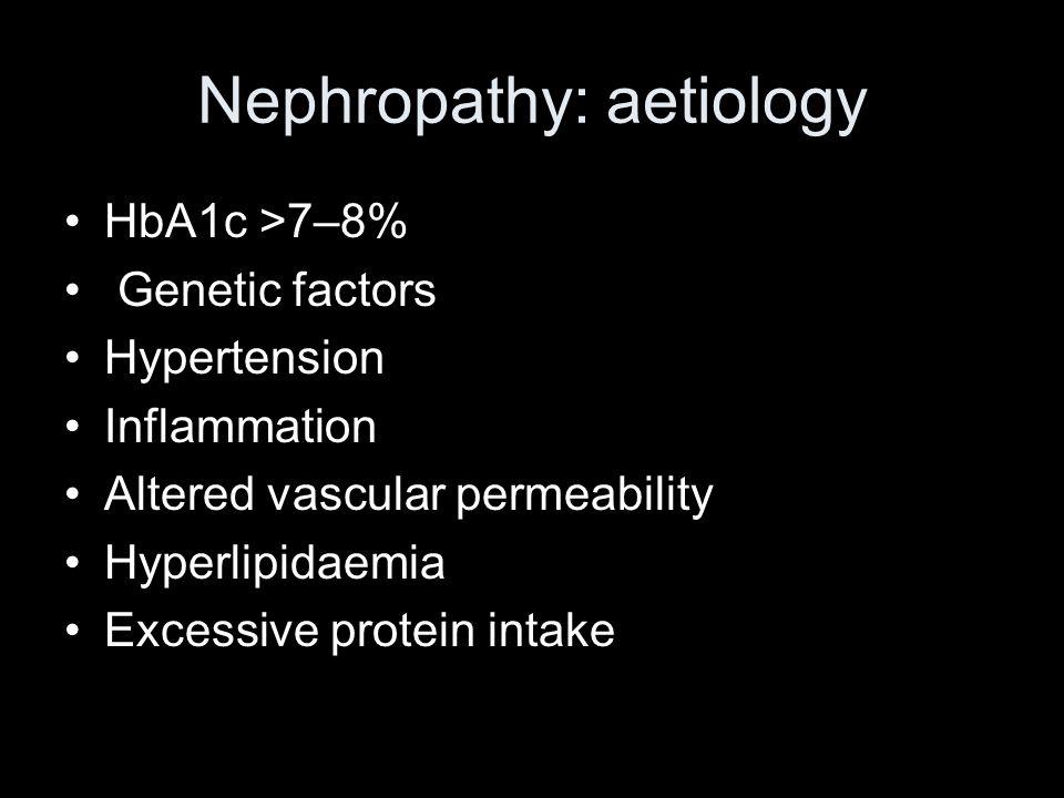 Nephropathy: aetiology