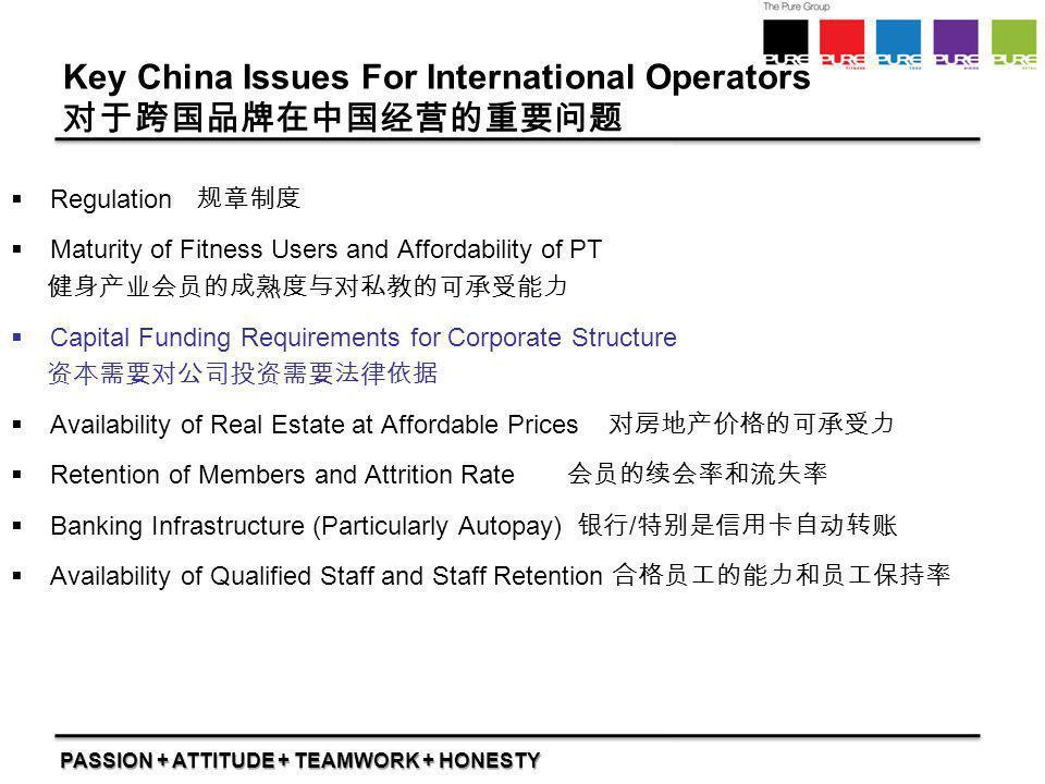 Key China Issues For International Operators 对于跨国品牌在中国经营的重要问题