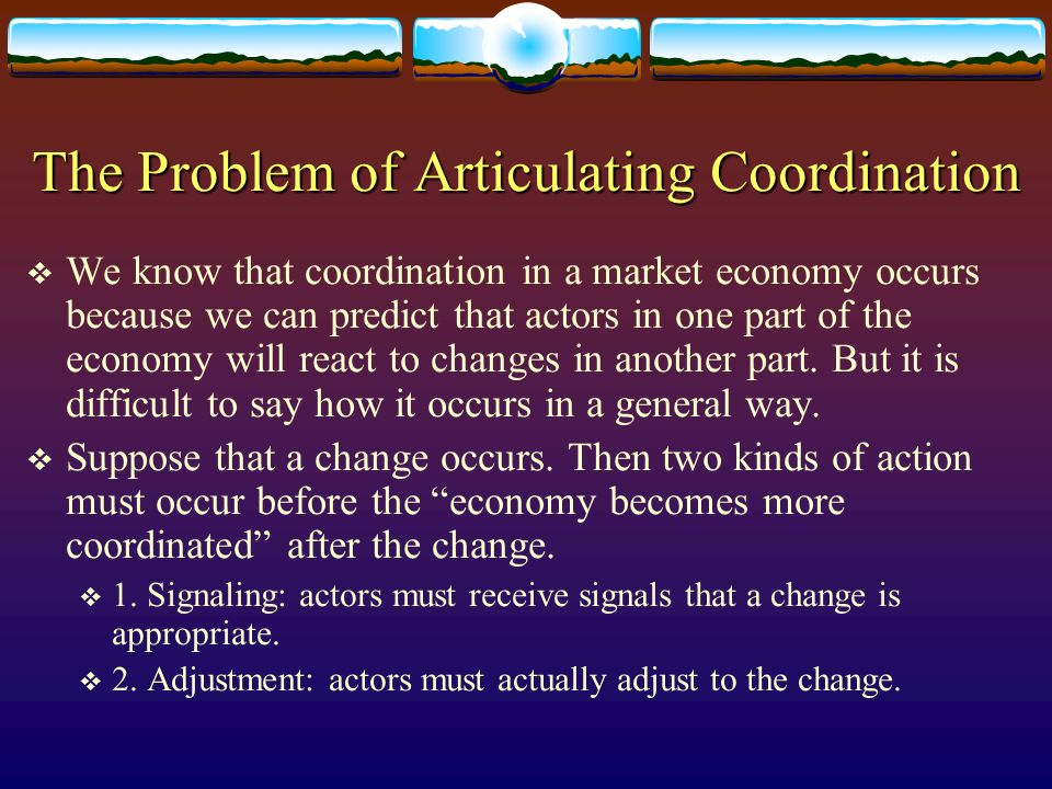 The Problem of Articulating Coordination