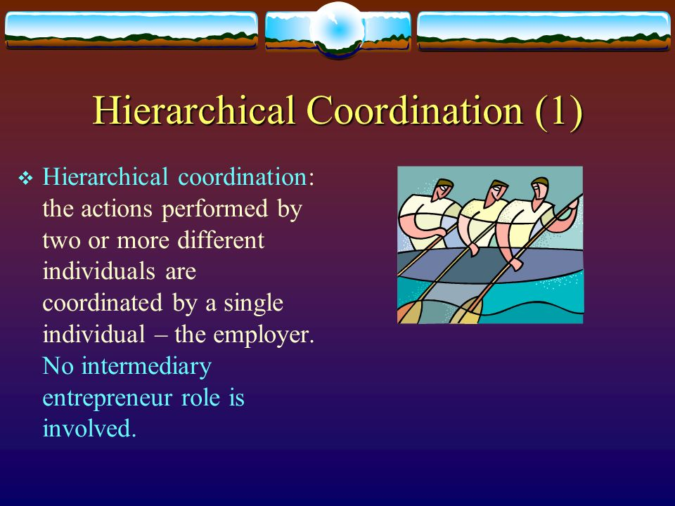 Hierarchical Coordination (1)