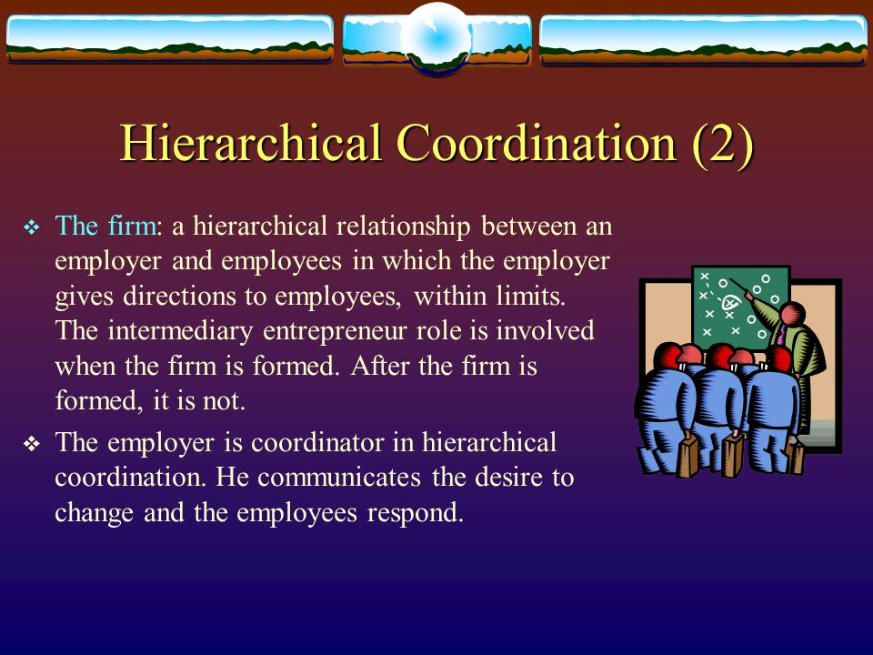 Hierarchical Coordination (2)
