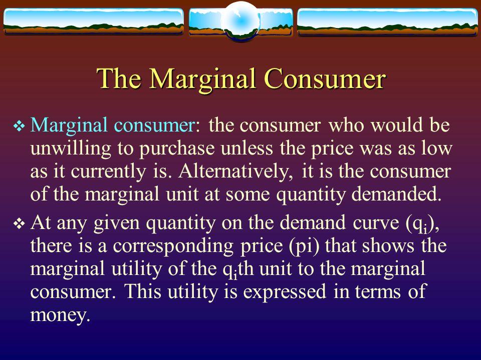 The Marginal Consumer