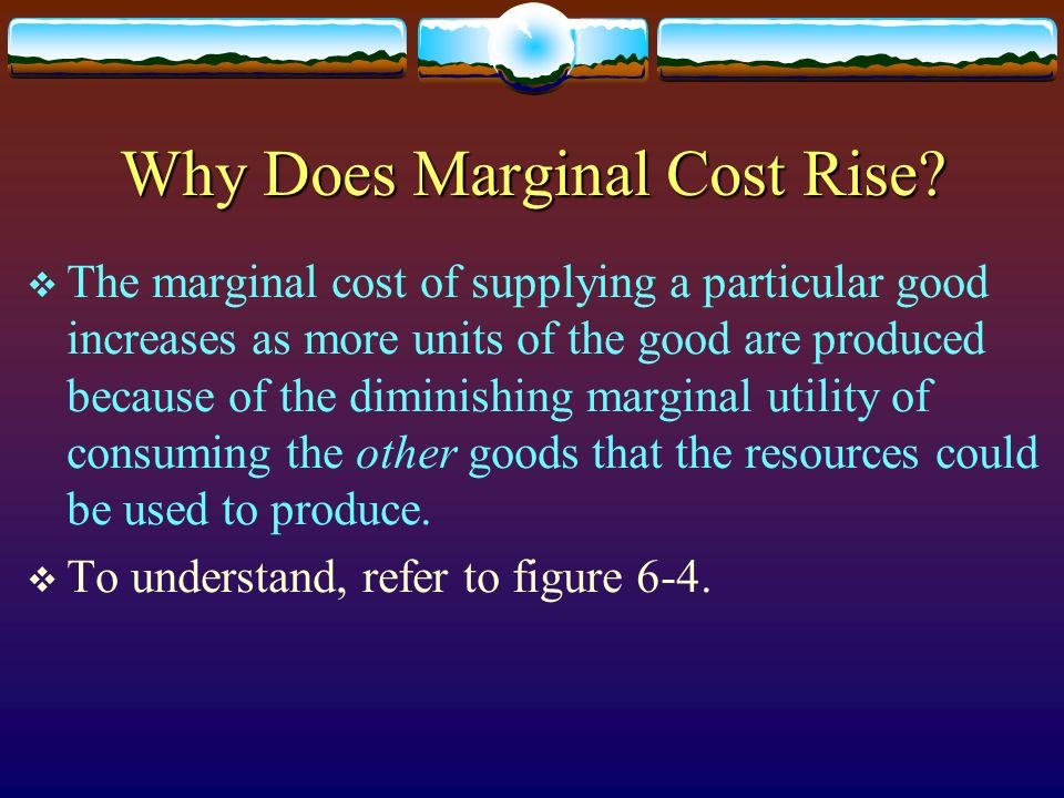 Why Does Marginal Cost Rise