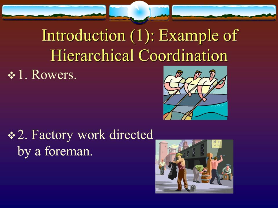 Introduction (1): Example of Hierarchical Coordination
