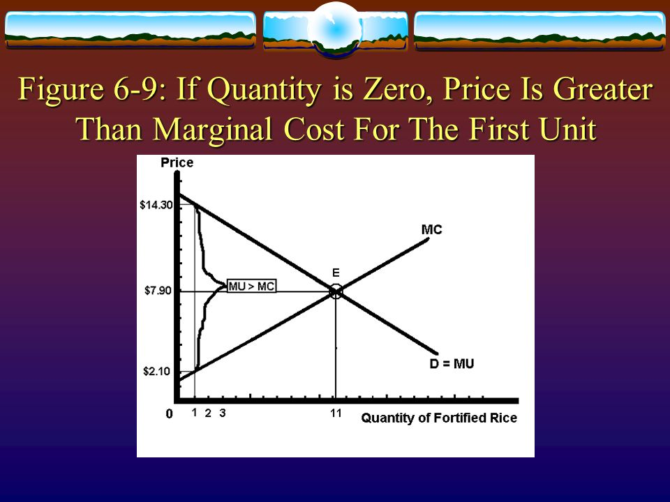 Figure 6-9: If Quantity is Zero, Price Is Greater Than Marginal Cost For The First Unit